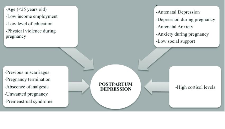 postpartum depression risk factors image